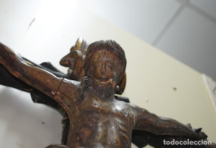 Arte: TALLA DE MADERA CRUCIFIJO SIGLO XVIII - Foto 9 - 143728746