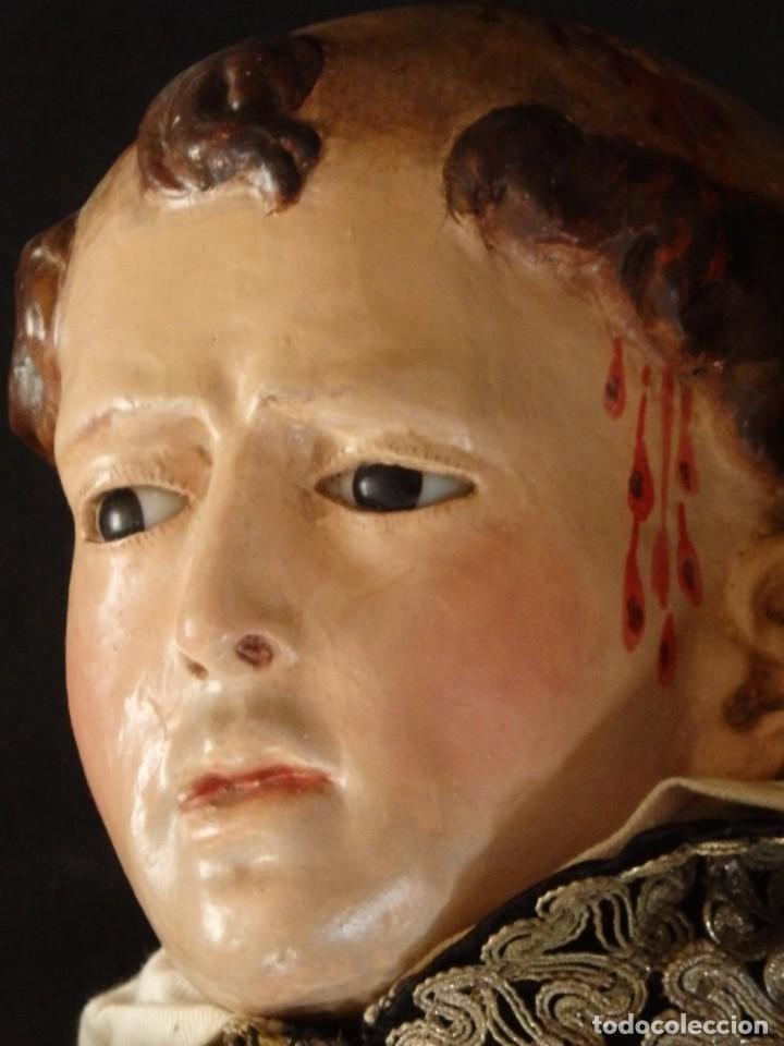 Arte: San Pedro Mártir. Imagen vestidera o cap i pota en madera tallada. 98 cm. Siglo XVIII. - Foto 4 - 143340742