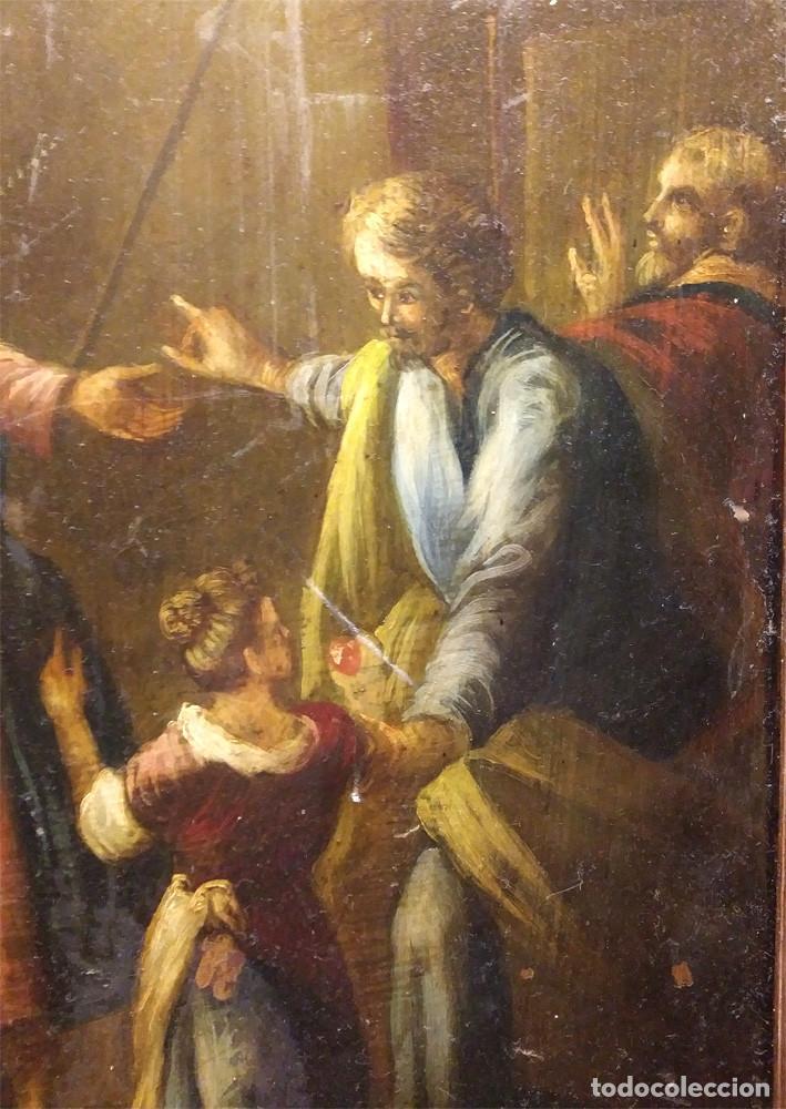 Arte: Escena Religiosa óleo sobre cobre S XIX. Med. 45 x 54 cm - Foto 3 - 143879554