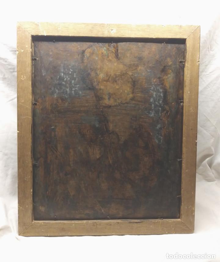 Arte: Escena Religiosa óleo sobre cobre S XIX. Med. 45 x 54 cm - Foto 6 - 143879554