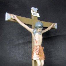 Arte: CRUZ CRUCIFIJO EN PORCELANA VALENCIA SANTO CRISTO DE LA FE PATERNA VINTAGE. Lote 143921614