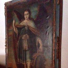 Arte: SAN RAFAEL ARCANGEL BERNABÉ DE AYALA (JEREZ DE LA FRONTERA 1620-1689 CÁDIZ) ESCUELA COLONIAL S. XVII. Lote 140066178