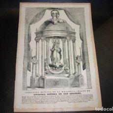 Arte: SIGLO XIX GRABADO XILOGRAFICO VIRGEN NUESTRA SEÑORA DE LOS ANGELES GERONA - RELIGION TARRAGONA. Lote 144027233