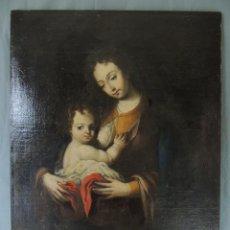 Arte: CUADRO VIRGEN CON NIÑO S.XVII (OLEO). Lote 144052242