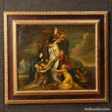 Arte: ANTIGUA PINTURA AL ÓLEO CON CRISTO DEL SIGLO XIX. Lote 144117114