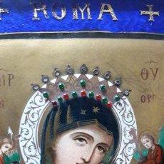 Arte: ESMALTE EN COBRE REPRODUCIENDO EL ICONO DE LA VIRGEN DEL PERPETUO SOCORRO. ANGELES Y NIÑO JESUS ROMA. Lote 144161402