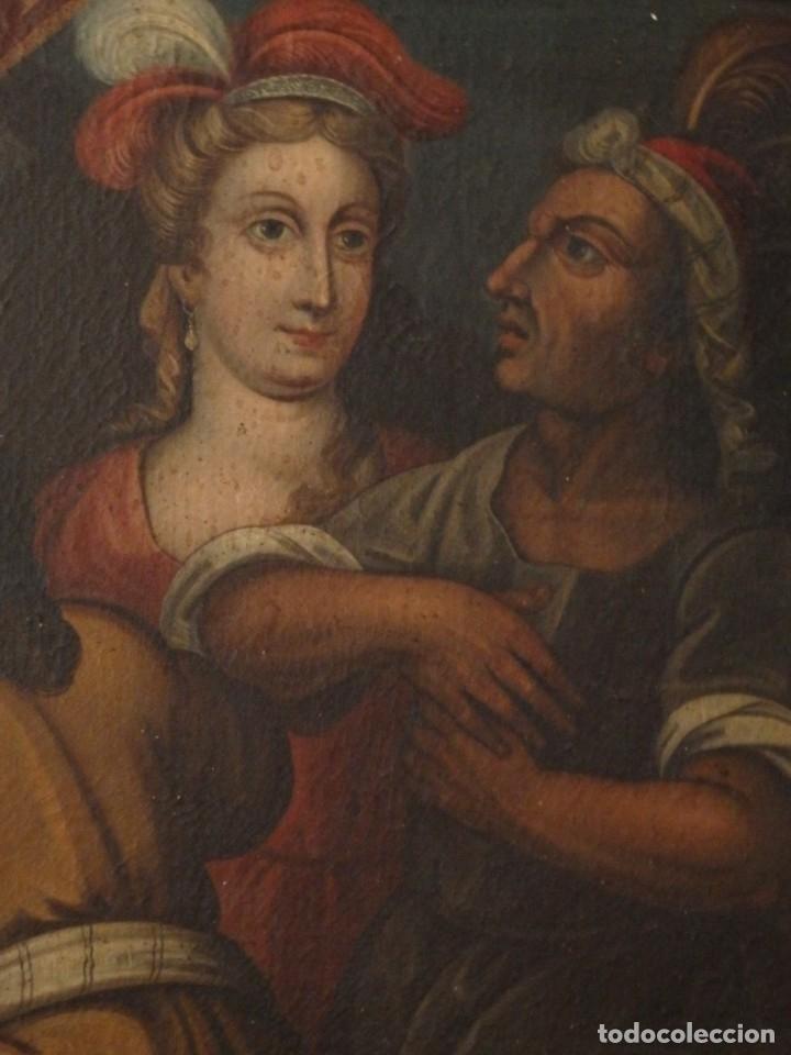 Arte: Evangelización en la Nueva España. Óleo sobre lienzo, Siglos XVII-XVIII. 112 x 76 cm. - Foto 3 - 144162682