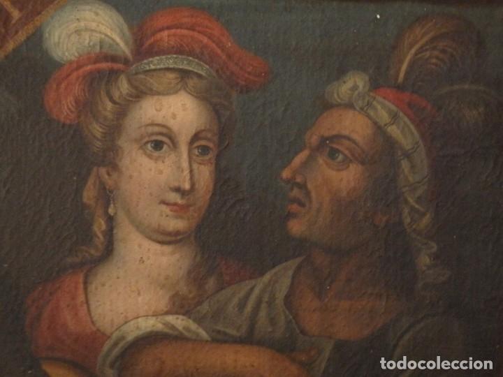 Arte: Evangelización en la Nueva España. Óleo sobre lienzo, Siglos XVII-XVIII. 112 x 76 cm. - Foto 4 - 144162682
