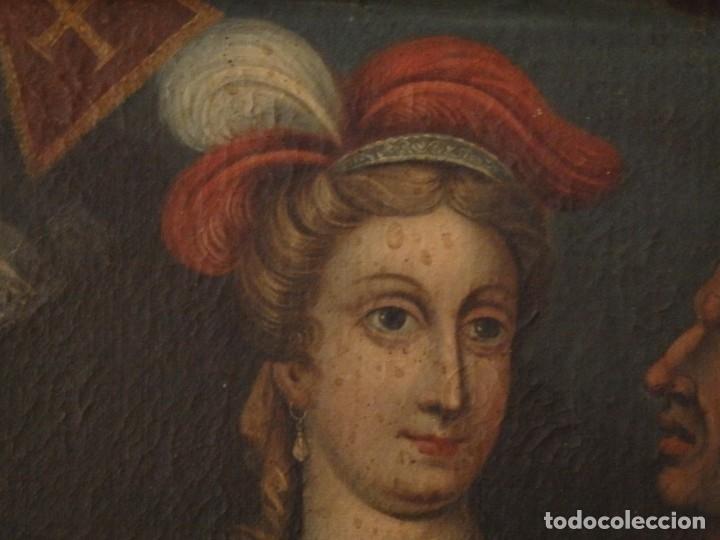Arte: Evangelización en la Nueva España. Óleo sobre lienzo, Siglos XVII-XVIII. 112 x 76 cm. - Foto 5 - 144162682