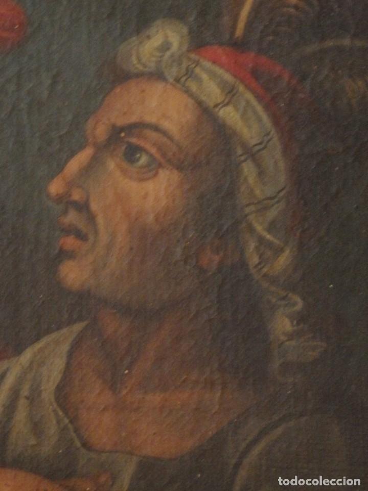 Arte: Evangelización en la Nueva España. Óleo sobre lienzo, Siglos XVII-XVIII. 112 x 76 cm. - Foto 6 - 144162682