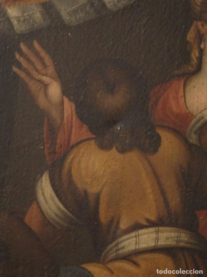 Arte: Evangelización en la Nueva España. Óleo sobre lienzo, Siglos XVII-XVIII. 112 x 76 cm. - Foto 7 - 144162682