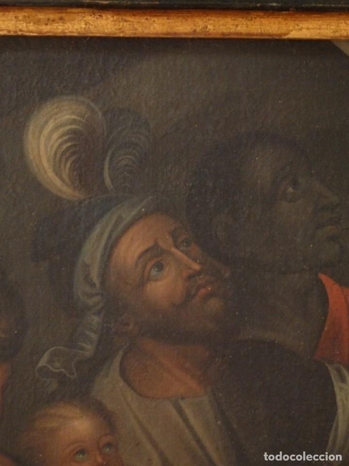 Arte: Evangelización en la Nueva España. Óleo sobre lienzo, Siglos XVII-XVIII. 112 x 76 cm. - Foto 10 - 144162682