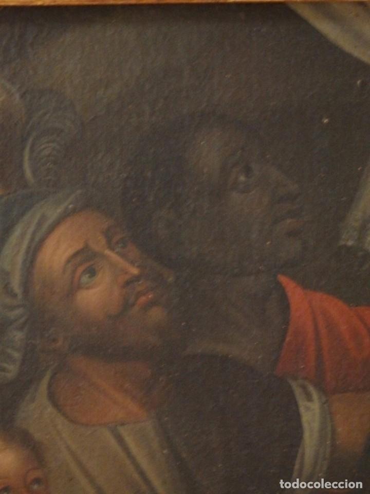 Arte: Evangelización en la Nueva España. Óleo sobre lienzo, Siglos XVII-XVIII. 112 x 76 cm. - Foto 11 - 144162682