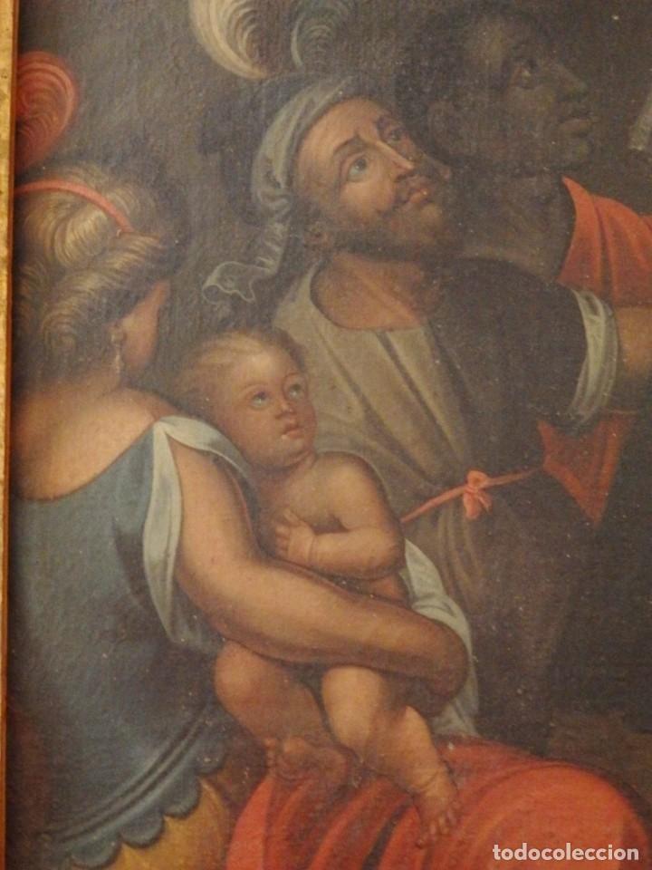 Arte: Evangelización en la Nueva España. Óleo sobre lienzo, Siglos XVII-XVIII. 112 x 76 cm. - Foto 12 - 144162682