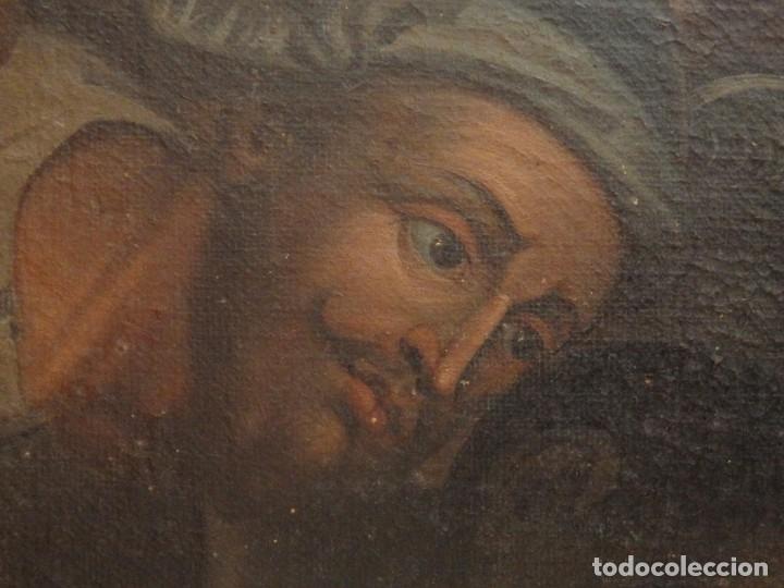 Arte: Evangelización en la Nueva España. Óleo sobre lienzo, Siglos XVII-XVIII. 112 x 76 cm. - Foto 14 - 144162682