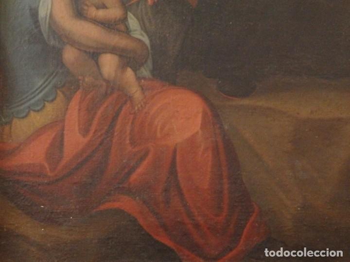 Arte: Evangelización en la Nueva España. Óleo sobre lienzo, Siglos XVII-XVIII. 112 x 76 cm. - Foto 13 - 144162682