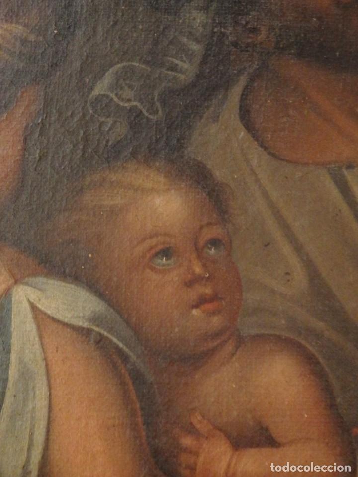 Arte: Evangelización en la Nueva España. Óleo sobre lienzo, Siglos XVII-XVIII. 112 x 76 cm. - Foto 15 - 144162682