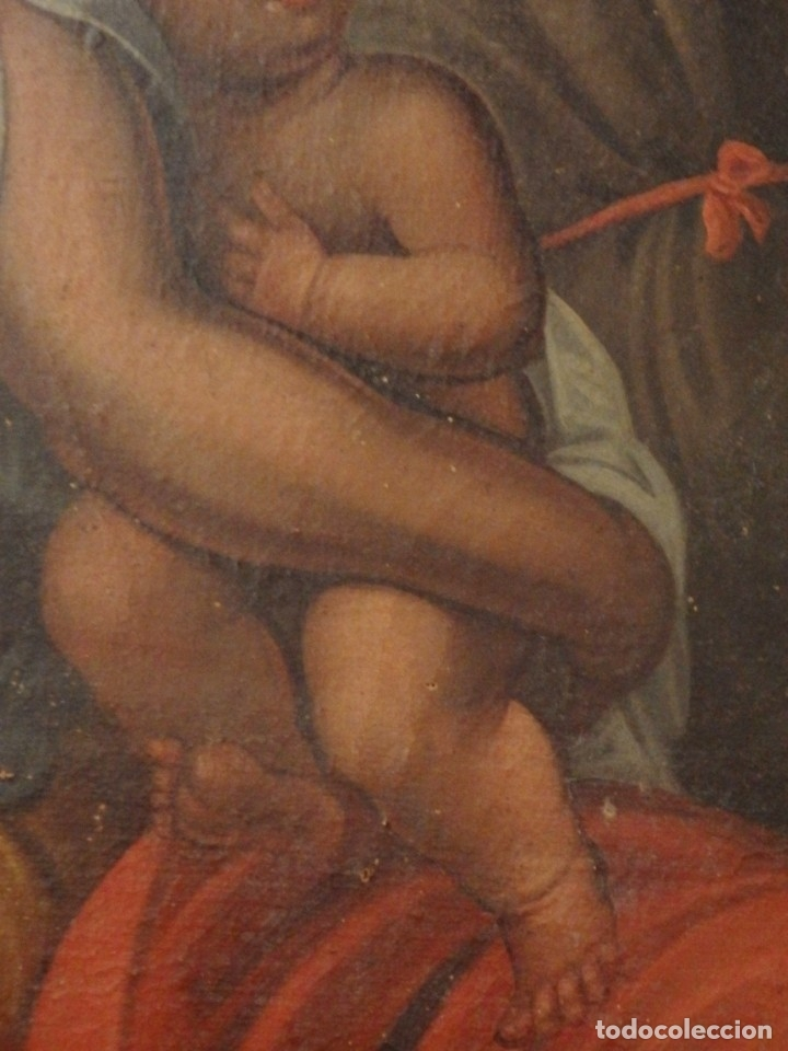 Arte: Evangelización en la Nueva España. Óleo sobre lienzo, Siglos XVII-XVIII. 112 x 76 cm. - Foto 16 - 144162682