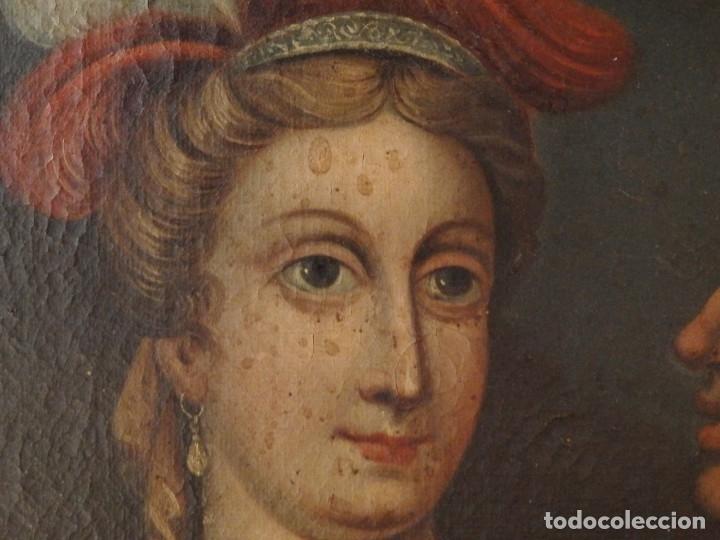Arte: Evangelización en la Nueva España. Óleo sobre lienzo, Siglos XVII-XVIII. 112 x 76 cm. - Foto 17 - 144162682