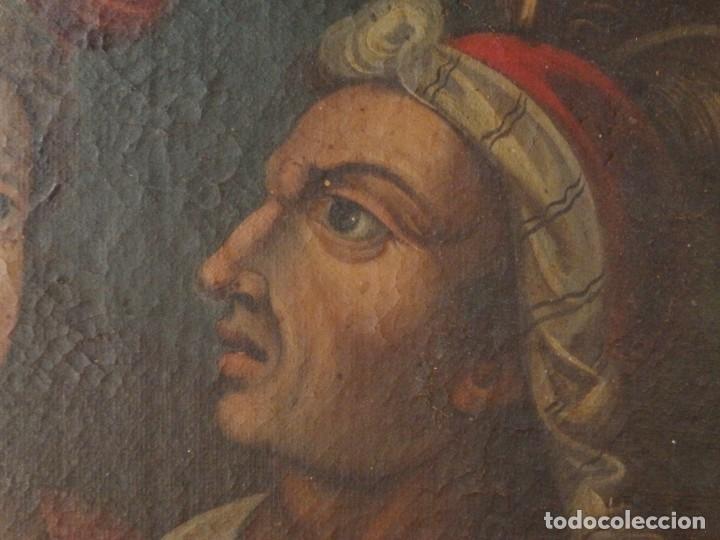 Arte: Evangelización en la Nueva España. Óleo sobre lienzo, Siglos XVII-XVIII. 112 x 76 cm. - Foto 18 - 144162682