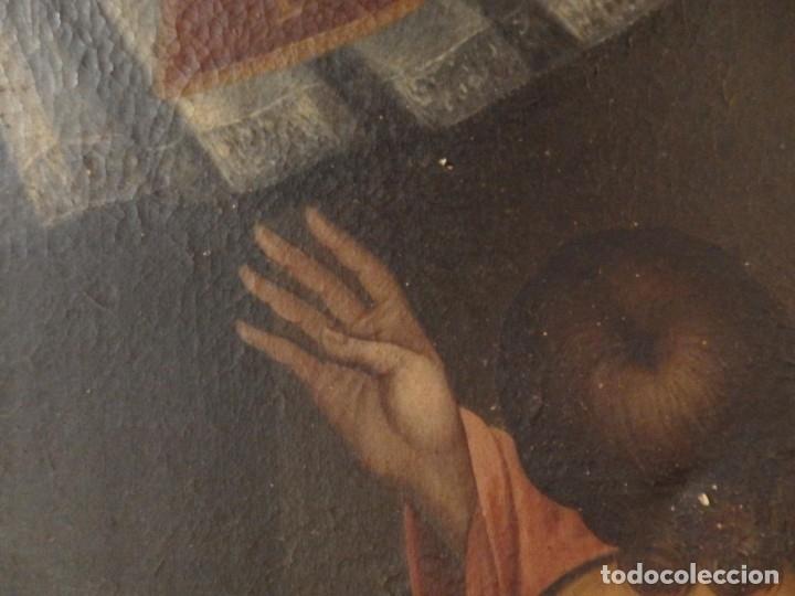 Arte: Evangelización en la Nueva España. Óleo sobre lienzo, Siglos XVII-XVIII. 112 x 76 cm. - Foto 20 - 144162682