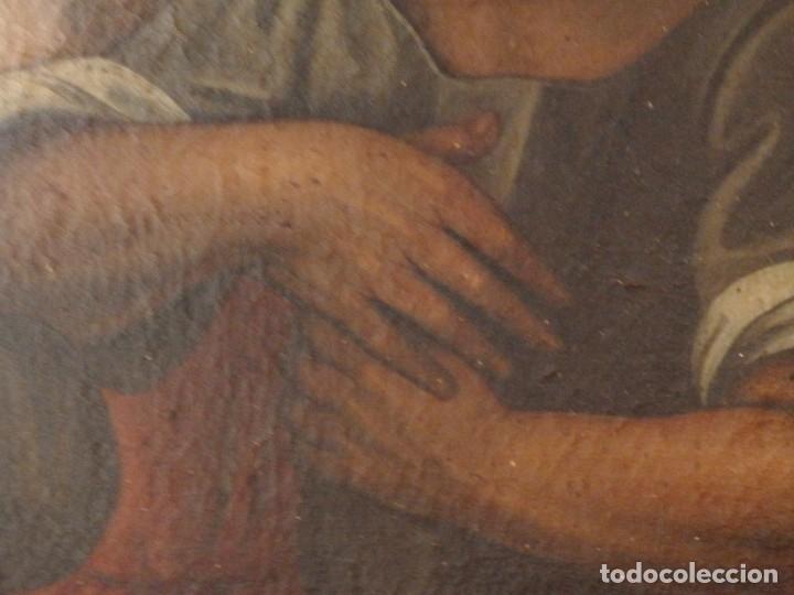 Arte: Evangelización en la Nueva España. Óleo sobre lienzo, Siglos XVII-XVIII. 112 x 76 cm. - Foto 19 - 144162682
