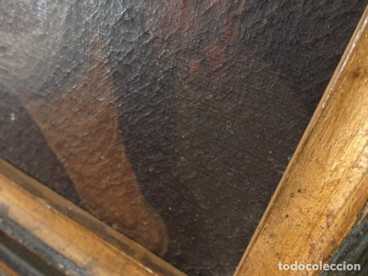 Arte: Evangelización en la Nueva España. Óleo sobre lienzo, Siglos XVII-XVIII. 112 x 76 cm. - Foto 22 - 144162682