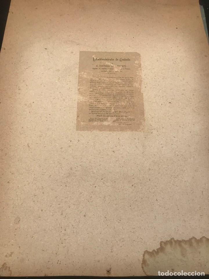 Arte: OFERTA DE PRECIOSA LAMINA MUY ANTIGUA SOBRE CARTON DEL VIA CRUCIS -UNO DE LOS 14 PASOS - Foto 2 - 144213082