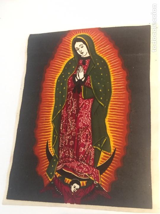 VIRGEN SOBRE TELA PINTADA A MANO O IMPRESA?? (Arte - Arte Religioso - Pintura Religiosa - Otros)