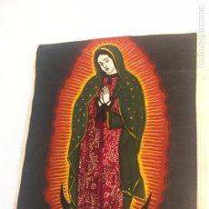 Arte: VIRGEN SOBRE TELA PINTADA A MANO O IMPRESA??. Lote 144221737