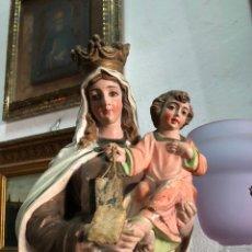 Arte: VIRGEN DEL CARMEN EN TERRACOTA PRIMERA MITAD DEL S.XX. Lote 144333093