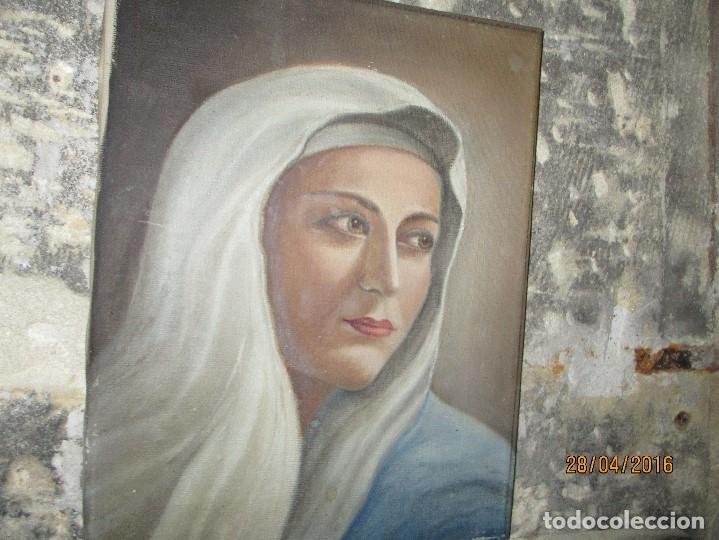 Arte: ANTIGUA PINTURA VIRGEN OLEO EN LIENZO CIRCULO DE GASTON CASTELLO ? ALICANTE - Foto 8 - 140466186
