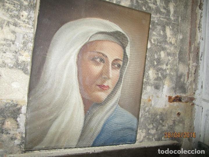 Arte: ANTIGUA PINTURA VIRGEN OLEO EN LIENZO CIRCULO DE GASTON CASTELLO ? ALICANTE - Foto 21 - 140466186