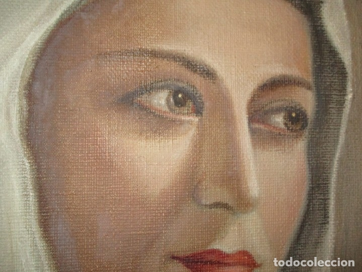 Arte: ANTIGUA PINTURA VIRGEN OLEO EN LIENZO CIRCULO DE GASTON CASTELLO ? ALICANTE - Foto 6 - 140466186