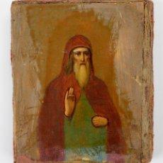 Arte: ICONO RUSO, DIVISIÓN AZUL FRENTE DE SAN PETERSBURGO, 1943, RUSIA. 6X6,5CM. Lote 144448838