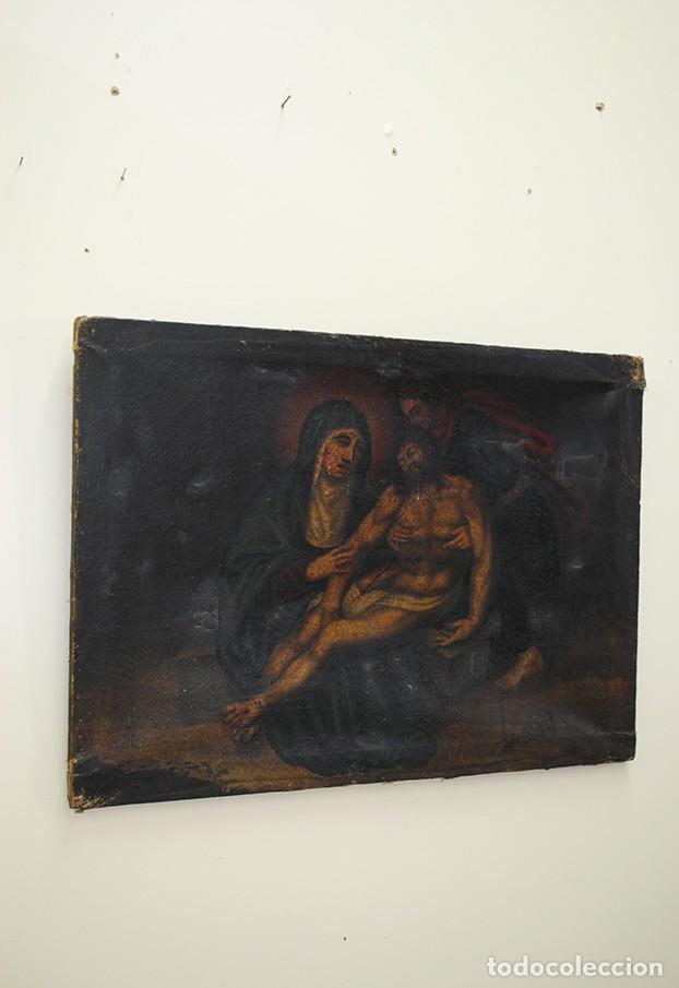 Arte: ÓLEO SOBRE LIENZO ANTIGUO DESCENDIMIENTO DE JESÚS - Foto 2 - 144456050