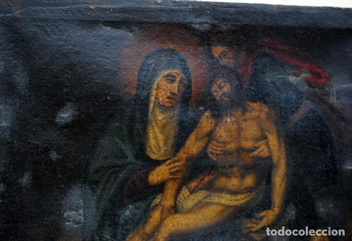 Arte: ÓLEO SOBRE LIENZO ANTIGUO DESCENDIMIENTO DE JESÚS - Foto 5 - 144456050