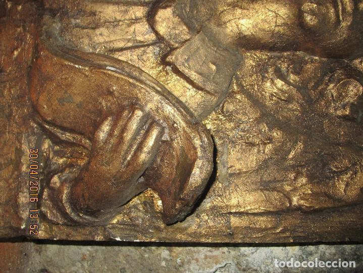 Arte: RETABLO DE ESTUCO DE YESO O ESCAYOLA ANGEL ANUNCIADOR NAVIDAD IDEAL PARA BELEN MUY PESADO - Foto 4 - 144594262