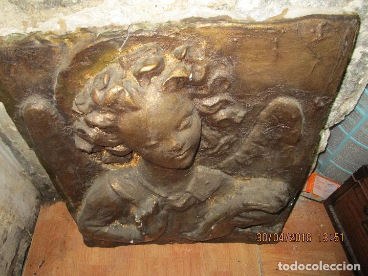 Arte: RETABLO DE ESTUCO DE YESO O ESCAYOLA ANGEL ANUNCIADOR NAVIDAD IDEAL PARA BELEN MUY PESADO - Foto 7 - 144594262