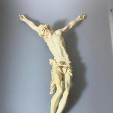 Arte: CRISTO MARFIL 50 CM MUY RARO PERFECTO IVORY CHRIST. Lote 144617518