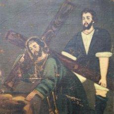 Arte: NAZARENO CON SIMÓN DE CIRENE. Lote 144811874
