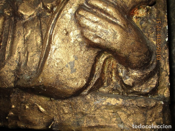 Arte: RETABLO DE ESTUCO DE YESO O ESCAYOLA ANGEL ANUNCIADOR NAVIDAD IDEAL PARA BELEN MUY PESADO - Foto 13 - 144594262