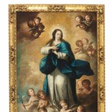 Arte: IMPORTANTE CUADRO DE LA INMACULADA POR ANDRÉS DE RUBIRA SIGLO XVIII. Lote 144830086