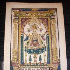Arte: SIGLO XIX GRABADO XILOGRAFICO VIRGEN NUESTRA SEÑORA DEL PINO TEROR CANARIAS - RELIGION LAS PALMAS. Lote 147155841