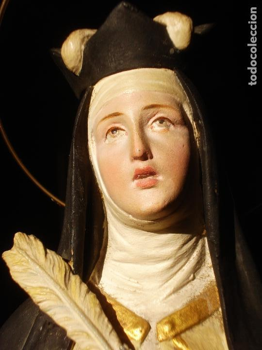 ANTIGUA IMAGEN DE SANTA TERESA ABADESA EL ARTE CRISTIANO (Arte - Arte Religioso - Escultura)