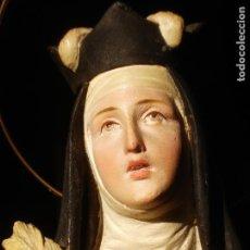 Arte: ANTIGUA IMAGEN DE SANTA TERESA ABADESA EL ARTE CRISTIANO. Lote 145044326