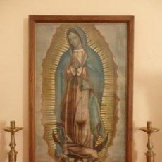 Arte: VIRGEN DE GUADALUPE.1ERA REPRODUCCIÓN A COLORES DOCUMENTADA Y FECHADA EN 1931 POR EL ABAD F. CORTES.. Lote 145210082