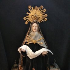 Arte: ESPECTACULAR VIRGEN DOLOROSA CAPIPOTA, CON CAPILLA .SXIX. Lote 145270076