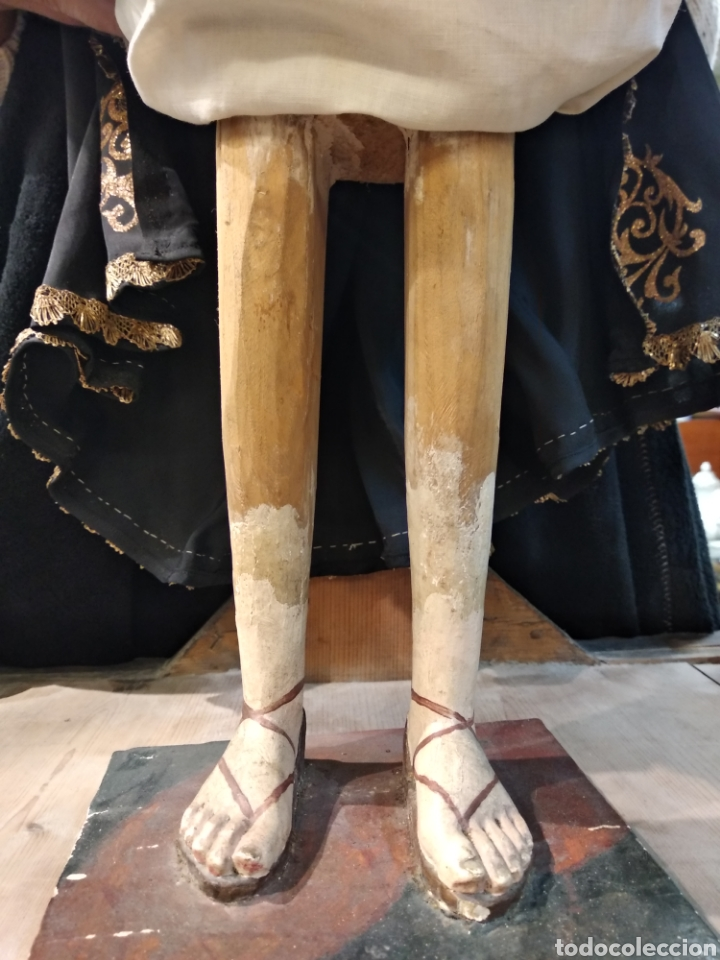 Arte: Espectacular Virgen Dolorosa Capipota, con capilla .sXIX - Foto 11 - 145270076