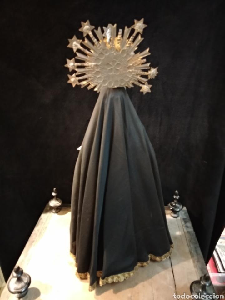Arte: Espectacular Virgen Dolorosa Capipota, con capilla .sXIX - Foto 14 - 145270076